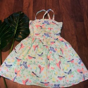 Cherokee girls floral bird tulle dress cross strap